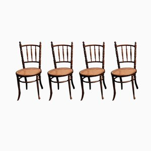 Austrian Bentwood Dining Chairs from Jacob & Josef Kohn, 1930s, Set of 4