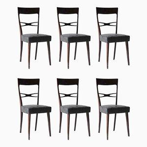 Esszimmerstühle von Melchiorre Bega, 1950er, 6er Set