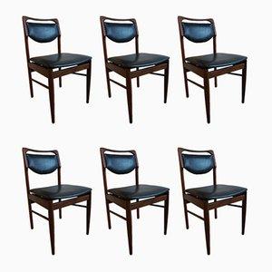 Esszimmerstühle aus Teak von Louis van Teeffelen für AWA Meubelfabriek, 1960er, 6er Set