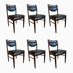 Teak Dining Chairs by Louis van Teeffelen for AWA Meubelfabriek , 1960s, Set of 6