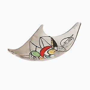 Französische Mid-Century Obstschale aus Keramik von Marius Bessone, 1950er