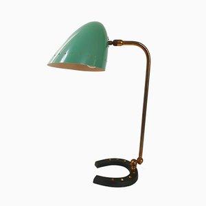 Lampe de Bureau Mid-Century en Acier et en Laiton, France, années 50