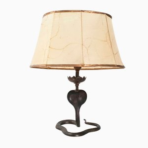 Vintage French Brass Cobra Table Lamp, 1970s