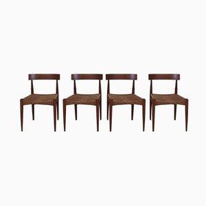 Chaises de Salle à Manger Vintage par Arne Hovmand-Olsen pour Mogens Kold, Danemark, années 60, Set de 4