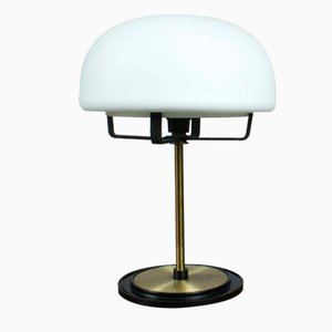 Mid-Century Italian Opaline Glass Table Lamp