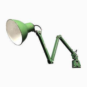 Industrial English Green Model EDL 3 Sconce, 1940s