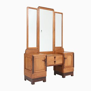 Art Deco Oak Dressing Table, 1920s