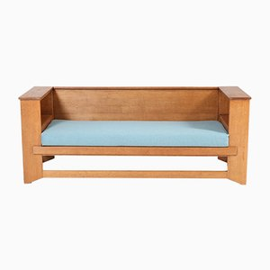Art Deco Oak Bench by Hendrik Wouda for Pander & Zonen, 1920s