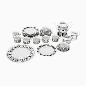 Palladiana Coffee Set by Piero Fornasetti for Rosenthal, 1970s