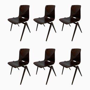 Chaises d'École Vintage de Pagholz Flötotto, années 70, Set de 6