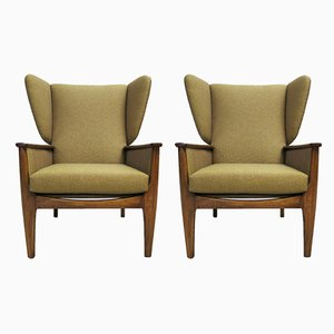 Vintage Wingback Lounge Chairs from Parker Knoll, 1960s, Set of 2