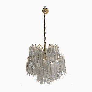 Italian Murano Glass Model Quadriedri Ceiling Lamp, 1970s