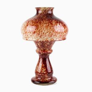 Roter Vintage Kerzenhalter aus Kunstglas, 1950er