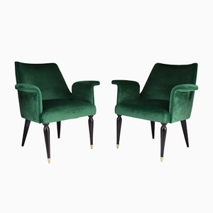 Vintage Italian Armchairs by Osvaldo Borsani, 1940s, Set of 2