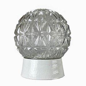 Mid-Century Wandlampe aus Keramik & Glas