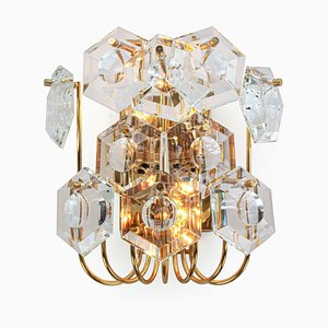 German Crystals & Gilt Brass Sconce from Kinkeldey, 1960s