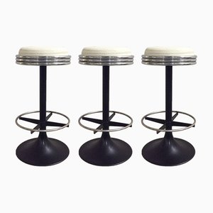 Swivel Bar Stools, 1970s, Set of 3