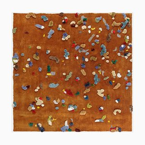 Large Brown Chaos Linen Rug from Emko