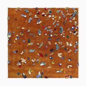 Kleiner brauner Chaos Leinenteppich von Emko