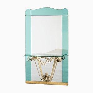 Großer Spiegel von Pierluigi Colli für Cristal Art, 1940er