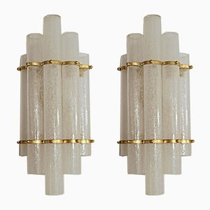 Murano Glass Pulegoso Sconces, 1980s, Set of 2