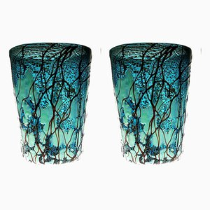 Silvered Murano Glass Tumblers Set by Fabiano Amadi, 1990s, Set of 2