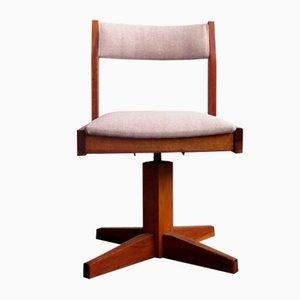 Chaise Pivotante Style Bauhaus en Bois pour Enfant, années 50