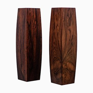 Danish Rosewood Vases, 1960s, Set of 2