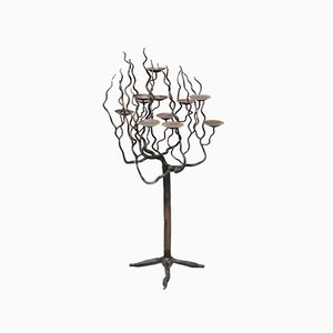 Mid-Century Wrought Iron Candleholder by Inconnu, 1950s