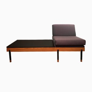 Mid-Century Wooden Chaise Lounge