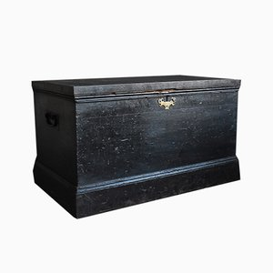 19th Century Ebonized Cabinet Makers Tool Chest