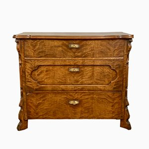 French Antique Walnut Chest of Drawers, 1920s