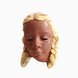 Mid-Century Modell-Nr. 3413 Keramikmaske von Cortendorf, 1950er
