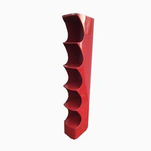 Étagère totem modèle rouge par Valeric Doubroucinskis pour Rodier, années 70