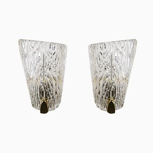 Glass Sconces by J. T. Kalmar, 1950s, Set of 2
