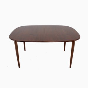 Danish Teak Extendable Oval Dining Table, 1960s