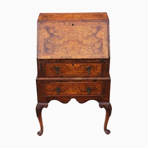 Small Antique Georgian Inlaid Burr Walnut Worktable