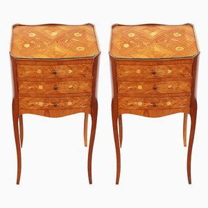 Vintage French Nightstands, Set of 2