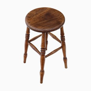 19th Century Victorian Elm Stool