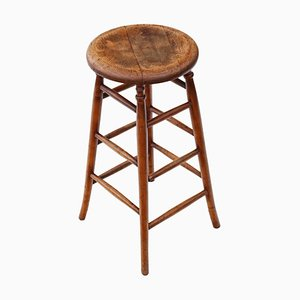 19th Century Victorian Ash and Elm Stool
