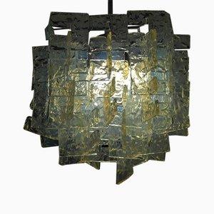 Lámpara de araña de vidrio opalino de Carlo Nason para Mazzega, años 60