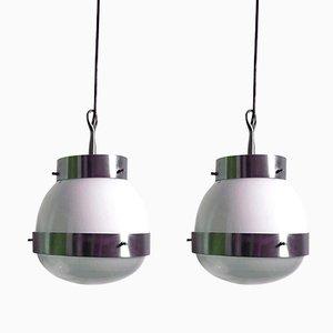 Lámparas colgantes de Sergio Mazza para Artemide, años 60. Juego de 2
