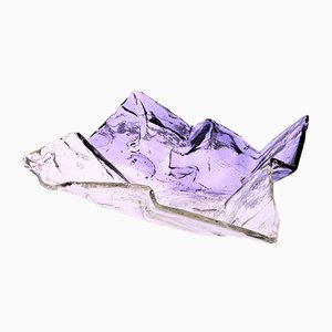Clear and Violet Murano Glass Model S502 Centrepiece by Carlo Nason for Mazzega, 1970s