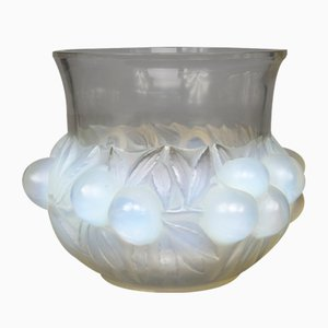 Plum Glass Vase by R.Lalique for R.Lalique, 1930s