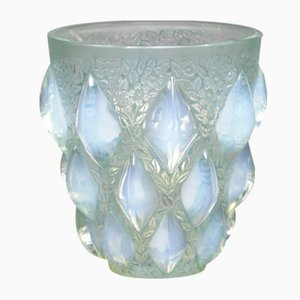 Opaline Glass Rampillon Vase by Rene Lalique, 1927