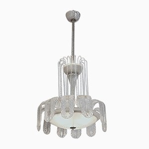 Murano Glass Fountain Chandelier by Ercole Barovier for Barovier & Toso, 1930s