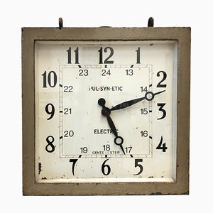 Vintage Industrial Railway Station Clock from Gents of Leicester, 1920s