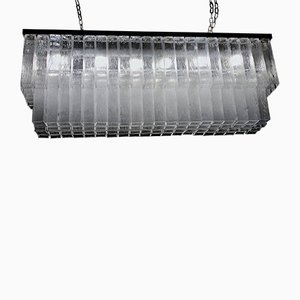 Grand Lustre en Verre Transparent par Toni Zuccheri pour Venini, années 60
