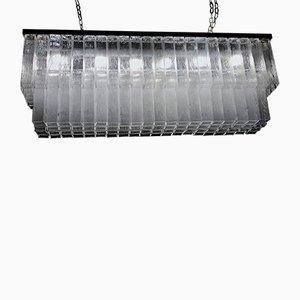Lampadario grande in vetro trasparente di Toni Zuccheri per Venini, anni '60