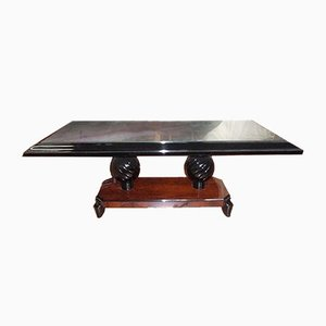 Art Deco French Rosewood Coffee Table by Souyeux, 1930s